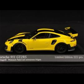 Porsche 911 GT2 RS Type 991 Weissach 2018 Racing Yellow Black 1/43 Minichamps 413067228