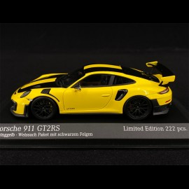 Porsche 911 GT2 RS Type 991 Weissach 2018 Racinggelb Schwarz 1/43 Minichamps 413067231