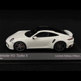 Porsche 911 Turbo S Type 992 2020 White Silver 1/43 Minichamps 413069476 - Limited Edition