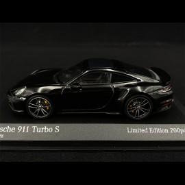 Porsche 911 Turbo S Type 992 2020 Black Silver 1/43 Minichamps 413069490 - Limited Edition