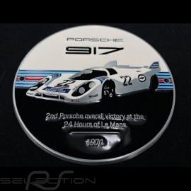 Grille badge Porsche 917 n° 22 Martini Le Mans 1971 white / black / blue / red WAP0508100M0MR