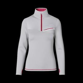 Porsche T-Shirt Sports Collection Langarm Grau / Pink WAP536M0SP - Herren