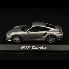 Porsche 911 type 991 Turbo Coupé 2014 silber 1/43 Minichamps WAP0203660E