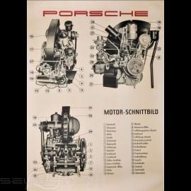 """Original Poster Porsche """"Motor-Schnittbild Porsche 356 A"""" PCG35610030"""