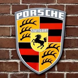 Porsche Emailleschild Originalabzeichen aus den 1960er Jahren 48 x 35 cm 64470100710