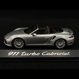 Porsche 991 Turbo Cabriolet grau 1/43 Herpa WAP0201300G