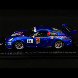Porsche 911 Type 991 GT3 Cup n° 53 Winner Carrera Cup France 2018 1/43 Spark SF140