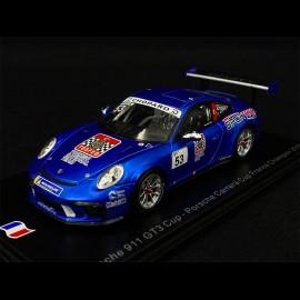 Porsche 911 Type 991 GT3 Cup n° 53 Sieger Carrera Cup France 2018 1/43 Spark SF140