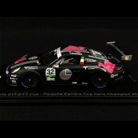 Porsche 911 Type 991 GT3 Cup n° 32 Winner Carrera Cup Italia 2018 1/43 Spark SI008