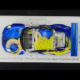 Porsche 911 GT3 Cup n° 78 Sieger Carrera Cup Japan 2018 1/43 Spark SJ066