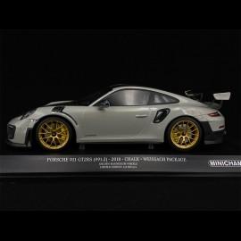Porsche 911 GT2 RS type 991 2018 chalk grey Pack Weissach 1/18 Minichamps 155068304