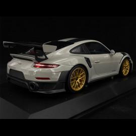 Porsche 911 GT2 RS type 991 2018 Chalkgrau Pack Weissach 1/18 Minichamps 155068304