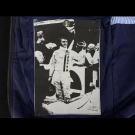 Gulf Jacke Michael Delaney / Steve McQueen Le Mans Baumwolle Dunkelblau - Herren