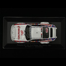 Porsche 911 SC Groupe 4 n° 1 Rallye San Remo 1981 1/43 CMR WRC006