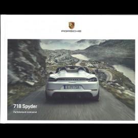 Porsche brochure Broschüre 718 Boxster Spyder Parfaitement irrationnel 06/2019 in Französisch WSLN2001001730