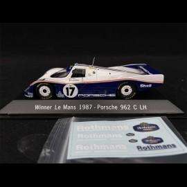 Porsche 962 C LH  Sieger Le Mans 1987 n° 17 1/43 Spark MAP02028713