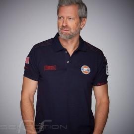 Gulf Racing Steve McQueen Le Mans 50 years Polo Marineblau - Herren