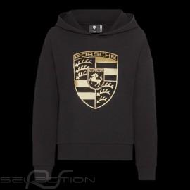 Porsche Jacke Hoodie mit Porsche Wappen Schwarz / Gold WAP725NPOR - Damen