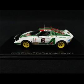 Lancia Stratos HF n° 6 2. Rallye Monte Carlo 1976 1/43 Spark S9083