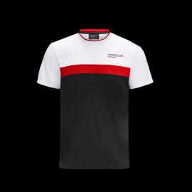 Porsche T-shirt Motorsport 4 Weiß / Schwarz / Rot - Herren