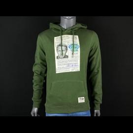 Sweatshirt Steve McQueen License Driving Khaki Hero Seven - Herren