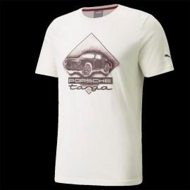 T-shirt Porsche 911 Targa Puma Elfenbeinweiß / Carmona Rot - Herren 531963-04