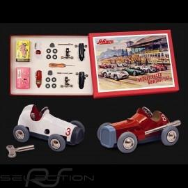 Vintage Rennwagen Bausatz Set Rot / Weiß Micro Racer Schuco 450162000