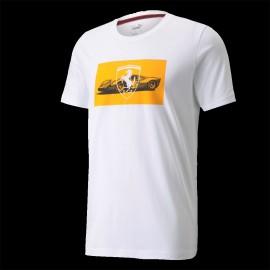 Ferrari T-Shirt Ferrari 330 P3 Le Mans 1966 Weiß / Orange - Herren