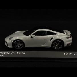 Porsche 911 type 992 Turbo S kreide grau 1/43 Minichamps 410069470