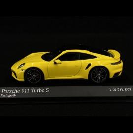 Porsche 911 type 992 Turbo S gelb racing 1/43 Minichamps 410069472