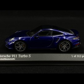 Porsche 911 type 992 Turbo S metallic blau 1/43 Minichamps 410069471