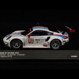 Porsche 911 GT3 RSR N°912 24h Daytona 2019 1/43 IXO LE43051