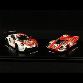 Set Porsche 917K & 911 RSR type 991 50 Jahre Le Mans 1970-2020 n° 23  & n° 91 1/43 Spark WAP0209040NSET