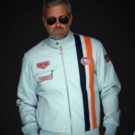 Gulf Jacke Michael Delaney / Steve Mcqueen Le Mans Roadmaster Blau Gulf - Herren