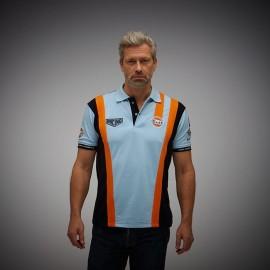 Polo Gulf Racing Pro Stripes gulfblau - Herren