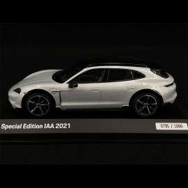 Porsche Taycan Cross Turismo Turbo S IAA Munich 2021 Eisgrau Metallic 1/43 Minichamps WAP0207880NTTC