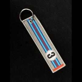 Stiff Schlüsselanhänger Selection RS n° 3 Racing 1971 Silber Blau / Rot Streifen