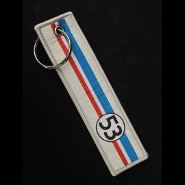 Stiff Schlüsselanhänger Selection RS n° 53 Racing Creme / Blau weiß rot Streifen